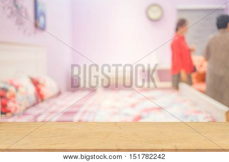 Defocus Background Of Bedroom Interior