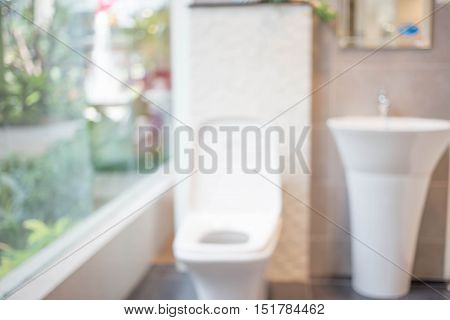 Abstract Blur Bathroom Background