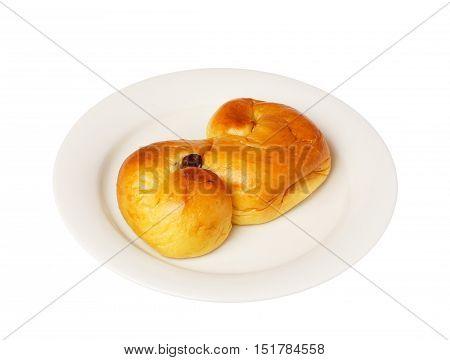 Typical Swedish saffron bun