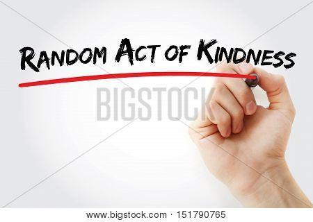 Hand Writing Random Act Of Kindness