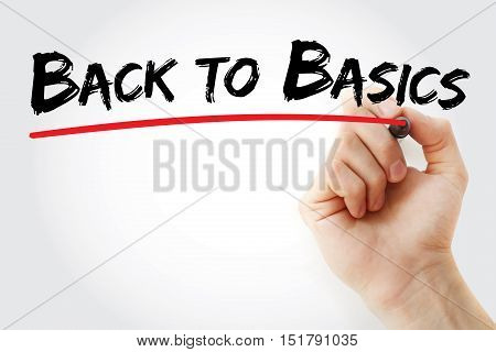 Hand Writing Back To Basics With Marker
