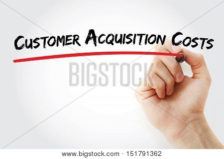 Hand Writing Customer Acquisition Costs