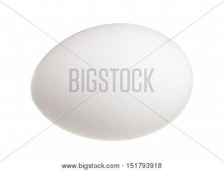 A hen egg isolated on white background.