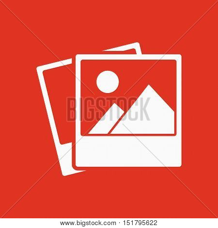 The photo icon. photograph and image, snapshot symbol. Flat Vector illustration