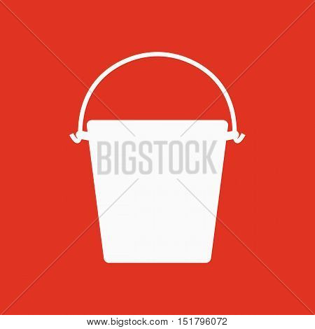 The bucket icon. Pail and bucketful symbol. Flat Vector illustration