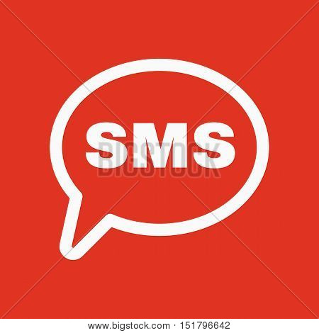 The sms icon. Text message symbol. Flat Vector illustration
