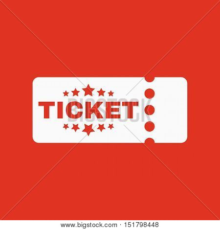 The ticket icon. Ducket and seat, tkt symbol. Flat Vector illustration