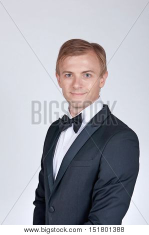 Handsome Groom in Studio