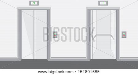 Two Elevators Vector