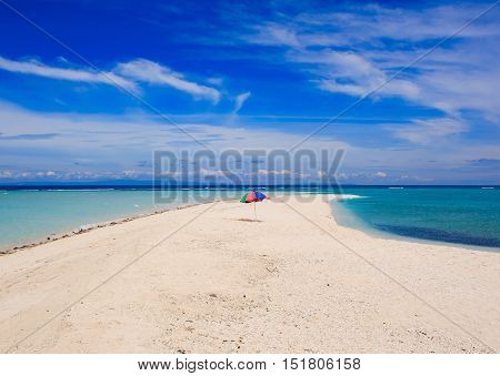 The beach on a White island. Camiguin island. Philippines.