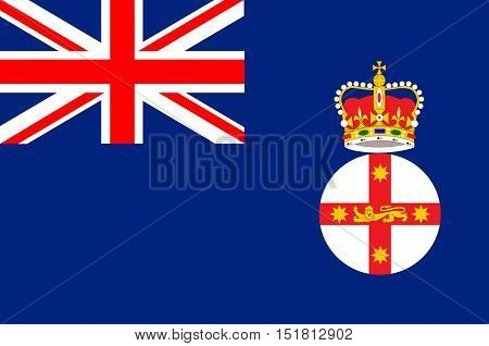Flag of New South Wales (NSW) is a state on the east coast of Australia.