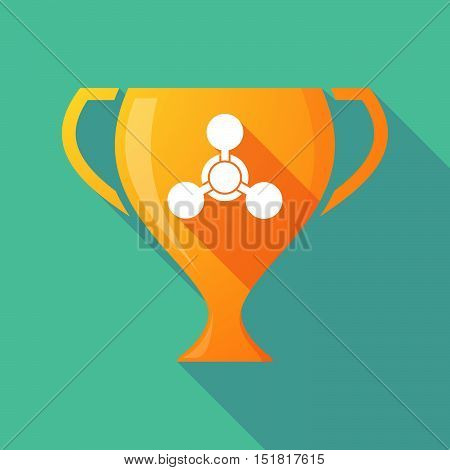 Long Shadow Gold Award Cup With A Chemical Weapon Sign