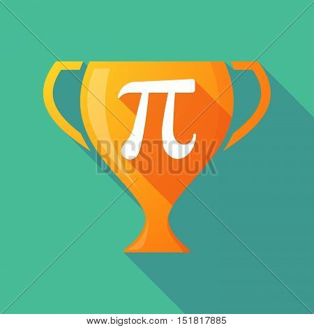 Long Shadow Gold Award Cup With The Number Pi Symbol
