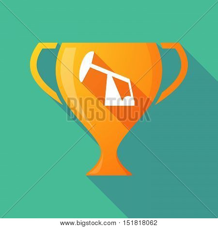 Long Shadow Gold Award Cup With A Horsehead Pump