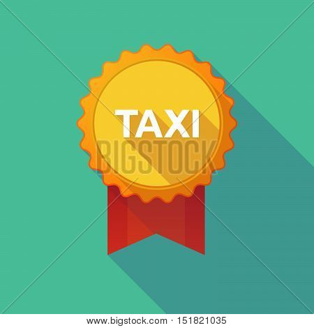 Long Shadow Badge With    The Text Taxi