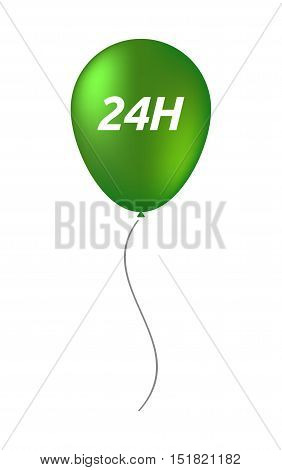 Isolated Balloon With    The Text 24H