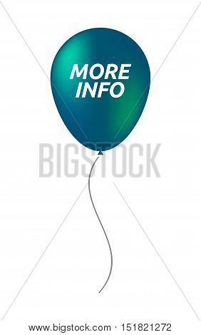 Isolated Balloon With    The Text More Info