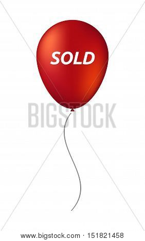 Isolated Balloon With    The Text Sold