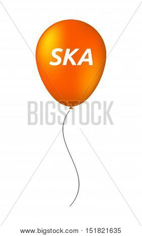 Isolated Balloon With    The Text Ska