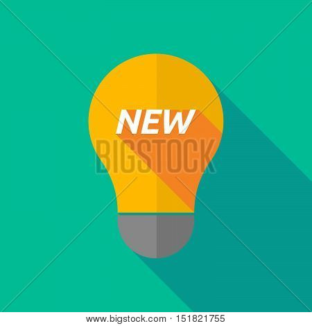 Long Shadow Light Bulb Icon With    The Text New
