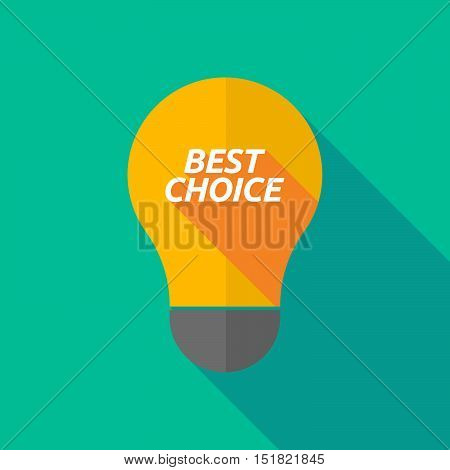 Long Shadow Light Bulb Icon With    The Text Best Choice