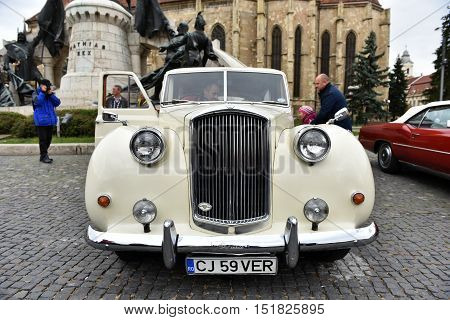 White Austin Princess British Vintage Car