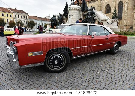 American Red Caddilac, Caddy Vintage Car