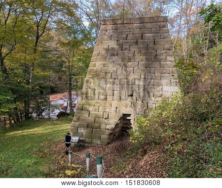 Iron Furnace By Muddy Creek Near Albright Wv