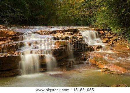 Waterfall On Muddy Creek Near Albright Wv
