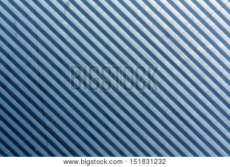 Blue Metal Plate Surface With Scratches.