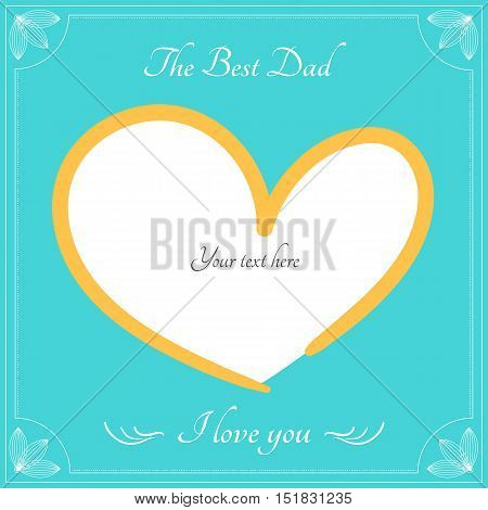The best dad card fro happy fathers day greeting vector background