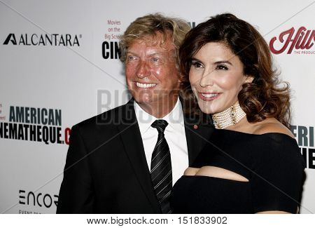 Jo Champa and Nigel Lythgoe at the 30th Annual American Cinematheque Awards Gala held at the Beverly Hilton Hotel in Beverly Hills, USA on October 14, 2016.