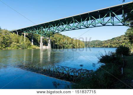 River Monongahela Underneath I79 Bridge