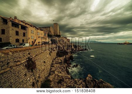 Antibes, France: beautiful medieval city in French Riviera between Cannes and Nice