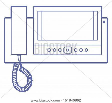 House videophone indoors illustration. Video door phone icon