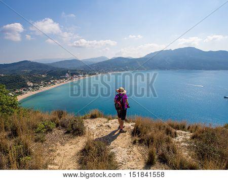 Agios Georgios coastline on Corfu Greek island