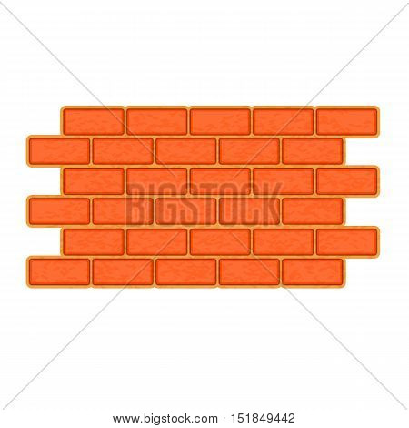 Brick wall icon. Flat illustration of brick wall vector icon for web