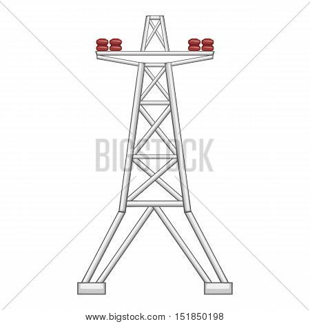 Electric pole icon. Flat illustration of electric pole vector icon for web