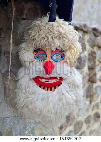 romanian pagan ancient dacian mask close detail poster