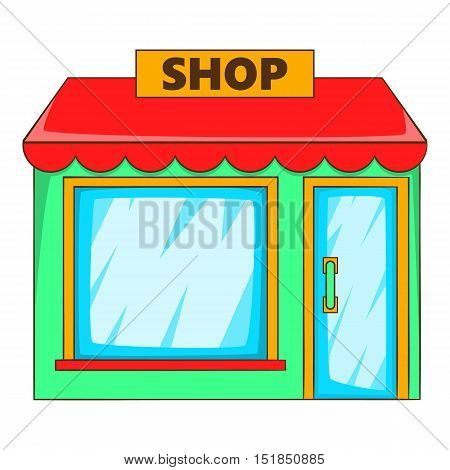 Shop icon. Flat illustration of shop vector icon for web