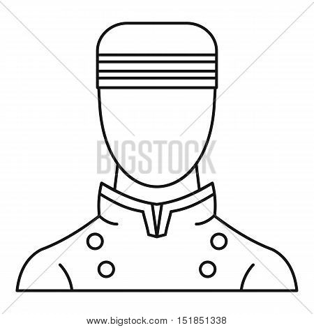 Doorman icon. Outline illustration of doorman vector icon for web