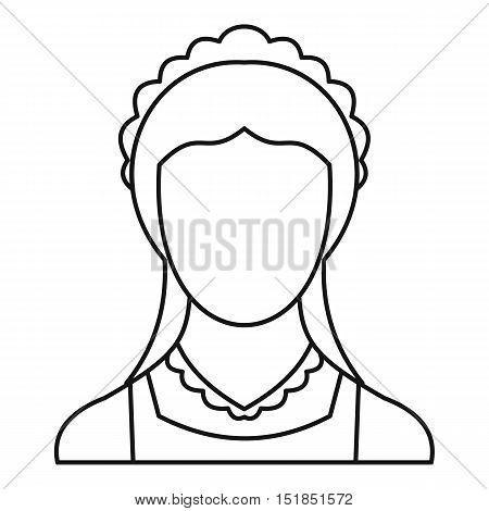 Maid icon. Outline illustration of maid vector icon for web