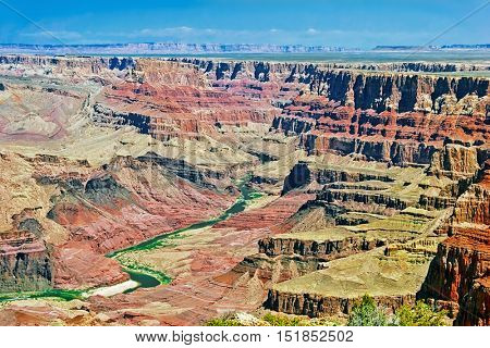 Great view on Grand Canyon background