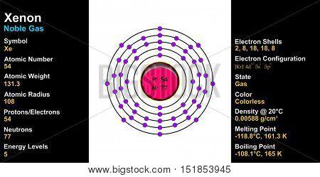 Vector - Xenon Atom