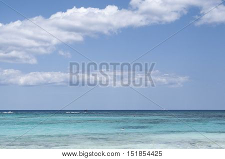 Caribbean Sea in Playa del Carmen, Quintana Roo, Mexico