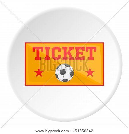 Football ticket icon. Cartoon illustration of football ticket vector icon for web