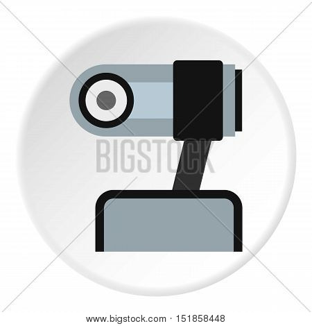 Webcam icon. Flat illustration of webcam vector icon for web design