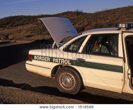 Border Patrol Car With Suspect