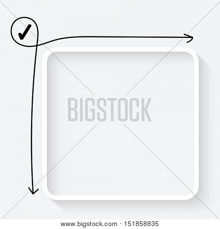 A white text box and check box