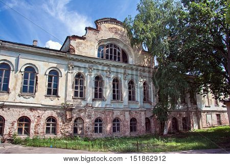 Panorama of an old abandoned Philip Vigel's Manor in Voronezh